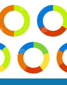 Set pie charts graphs in segments also segmented circles rh dreamstime