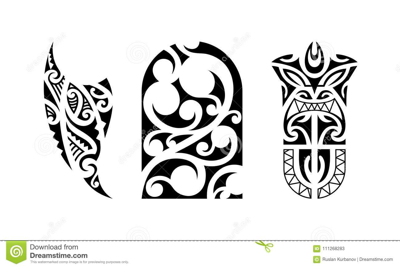 Polynesian Maori Tribal Tattoo Designs