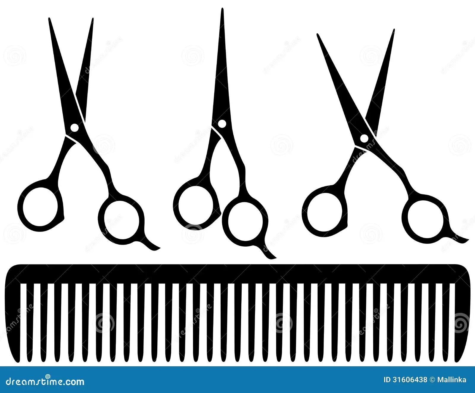 Set Of Professional Scissors Royalty Free Stock Photos