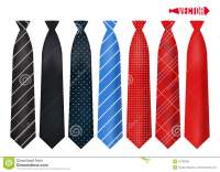 Set Realistic Colorful Neckties. Stock Vector