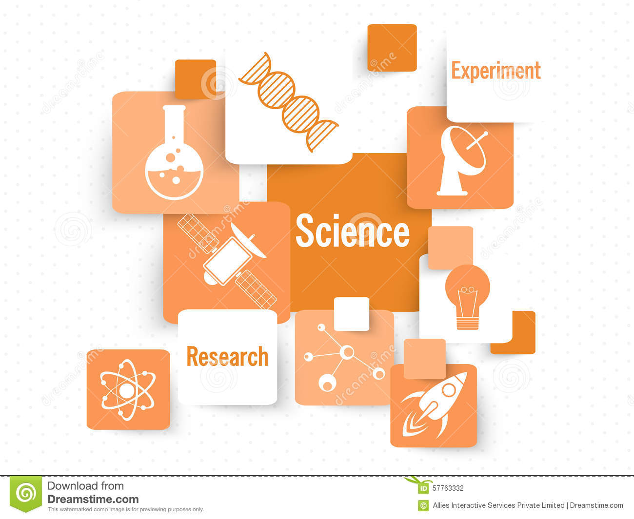 Set Of Science Signs And Symbols Stock Illustration