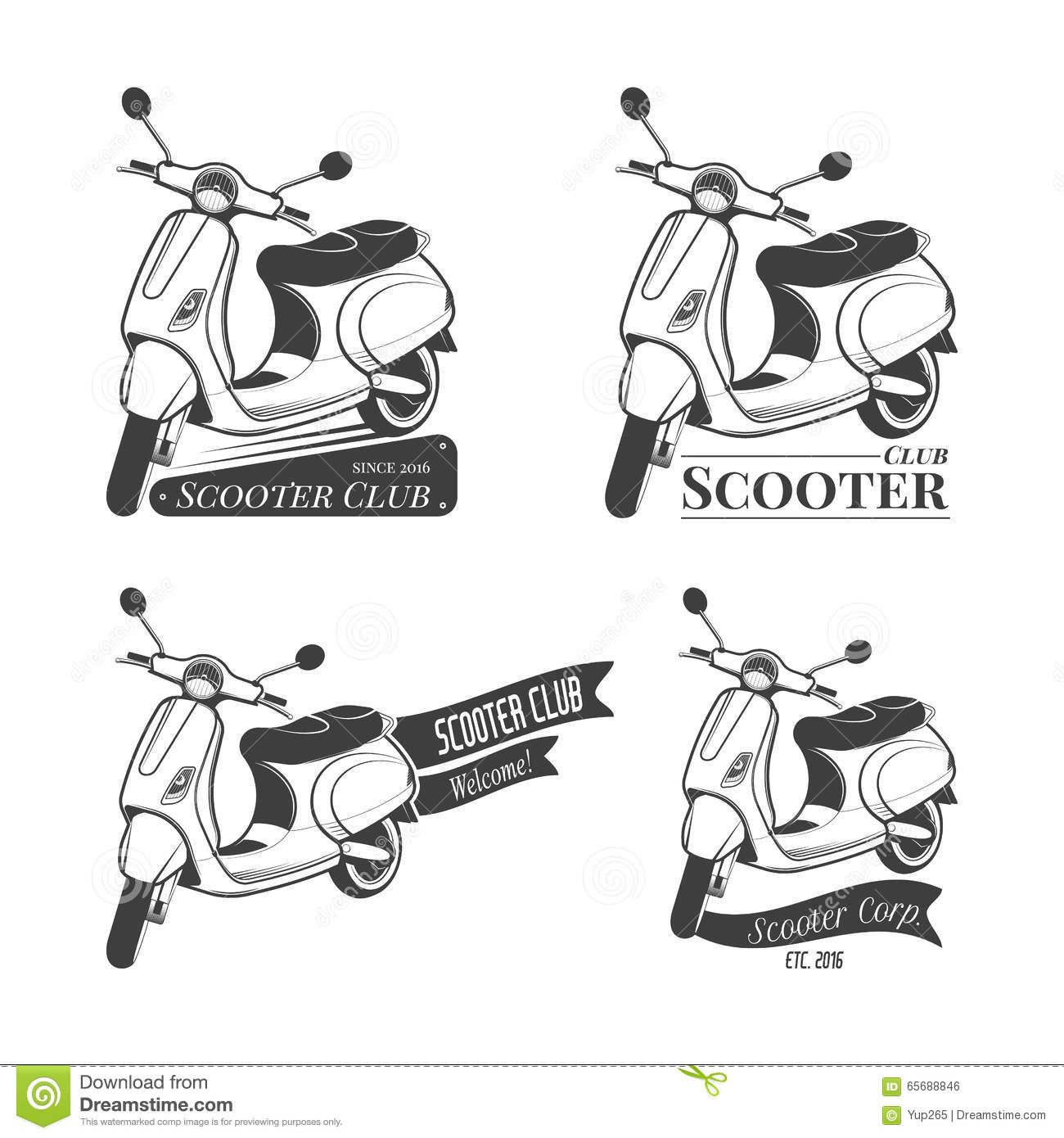Vespa Motor Scooters