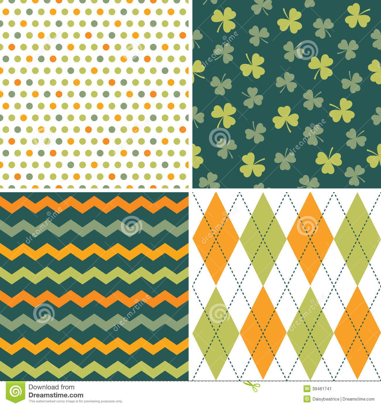 Cute Thanksgiving Wallpaper Retro Patterns Set Of Seamless Background Patterns In Green And O Stock