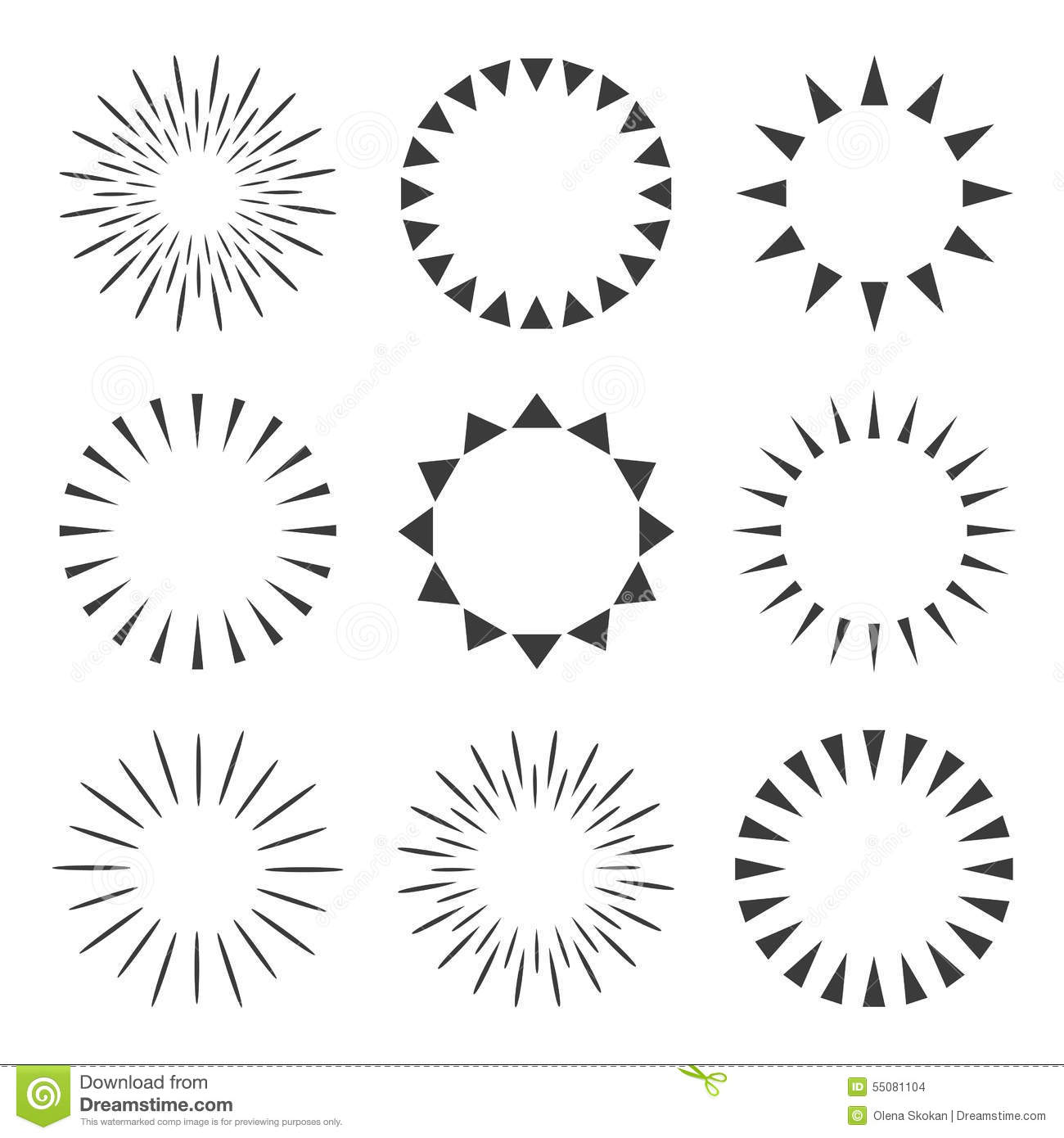 Sparkles And Starbursts Set Vector Illustration