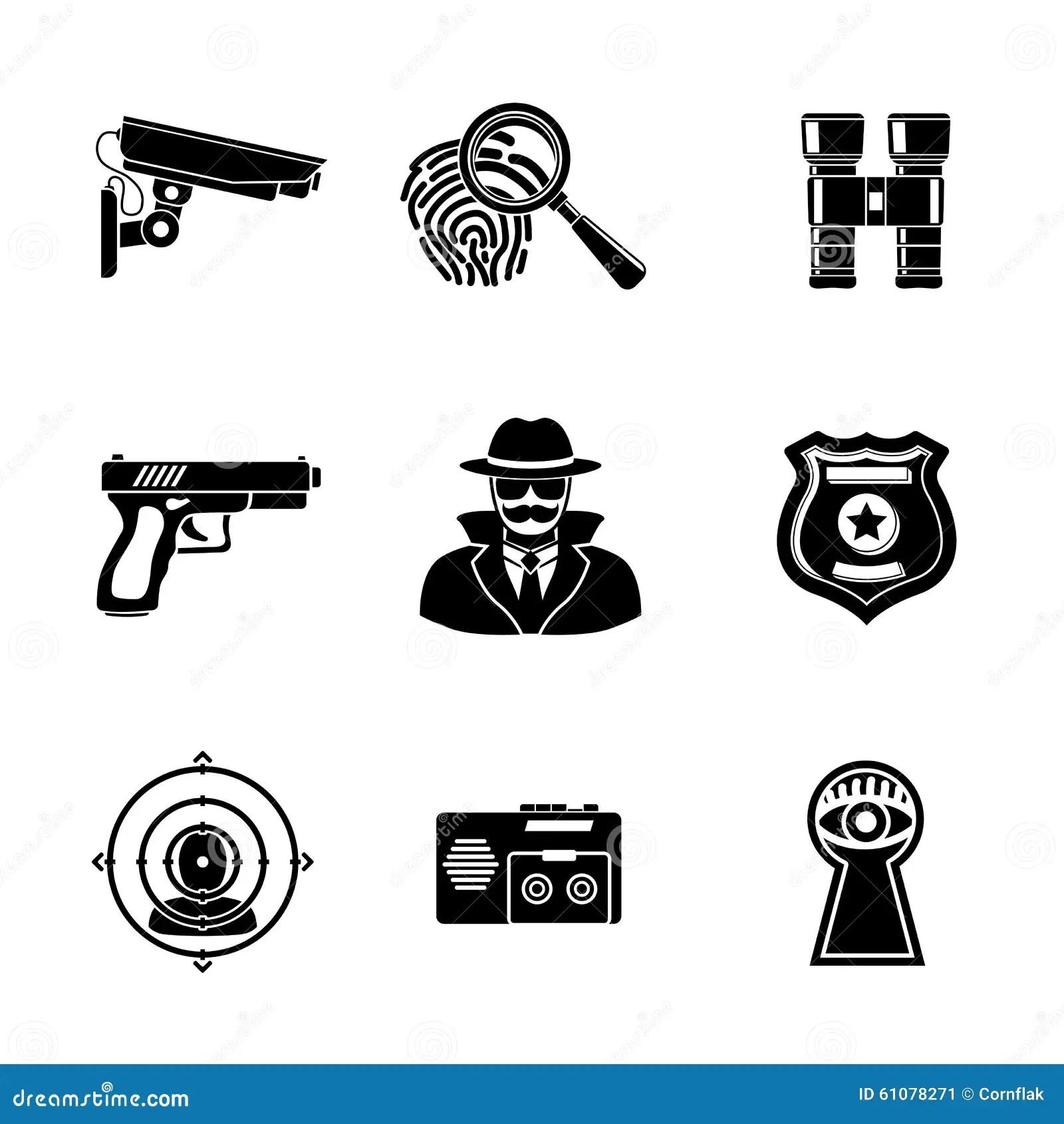 Set Of Spy Icons