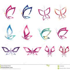 Butterfly Pedicure Chair Sitting Chairs For Living Room Logo Abstract Concept Cartoon Vector