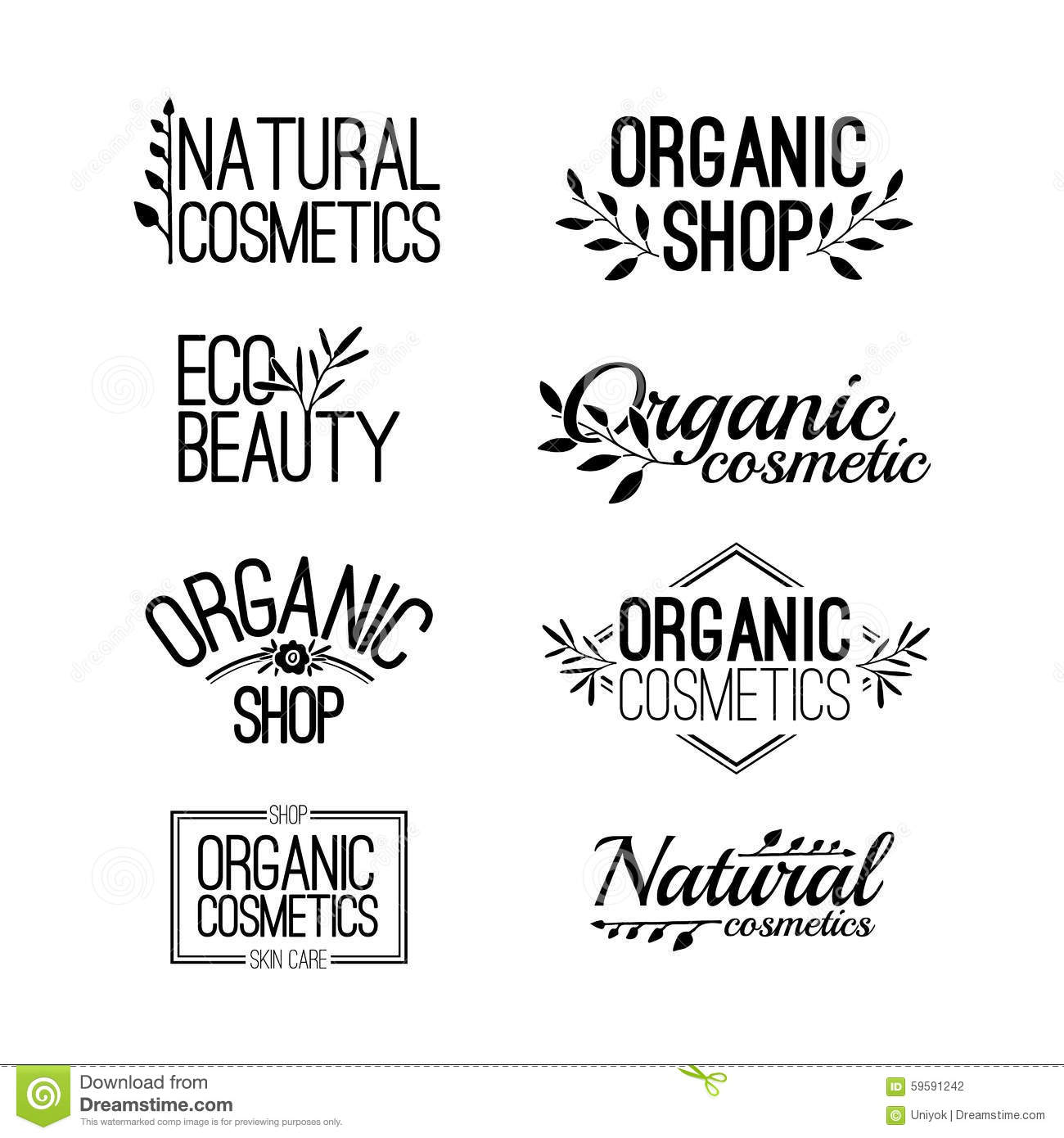 Set Of Template For Design Logos, Stamps, Stickers Stock