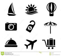 Set Of Travel And Tourism Icons Stock Vector