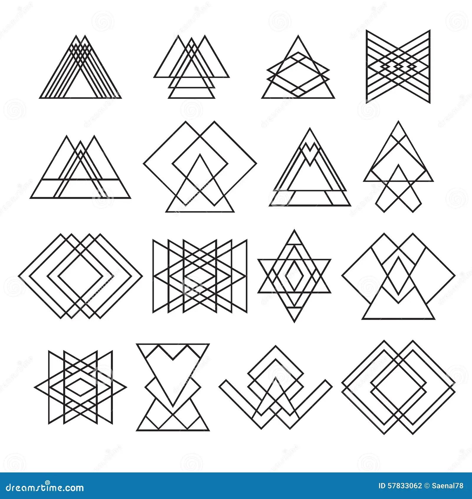 Set Of Trendy Hipster Geometric Shapes Geometric