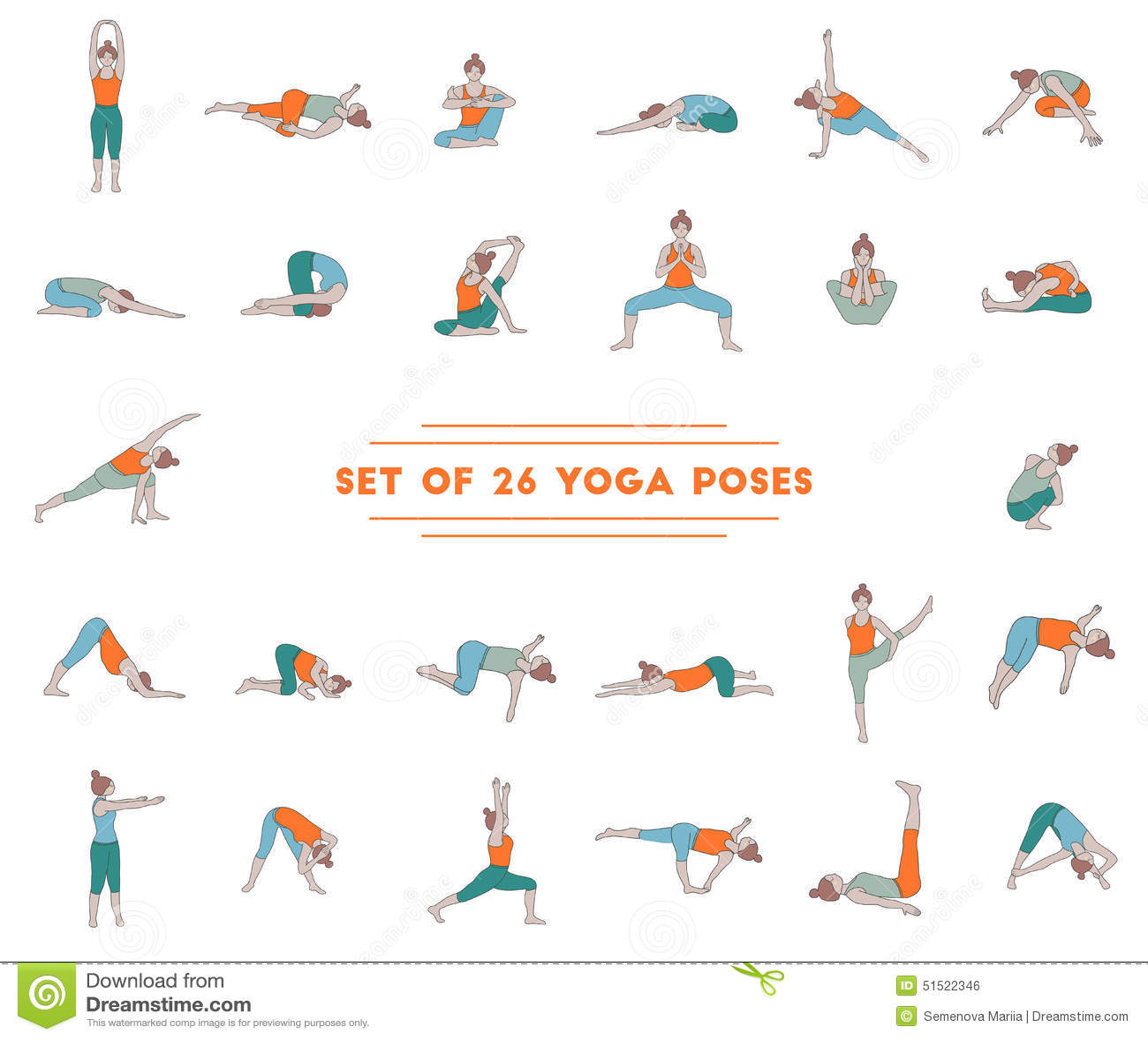 Yoga Pose Cards Preschool Printable