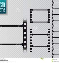 set of vector film strip isolated on transparent background  [ 1300 x 1065 Pixel ]