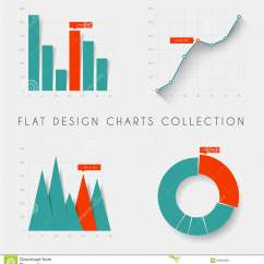 Statistical Analysis Graphs And Diagrams Permanent Split Phase Motor Wiring Diagram Set Of Vector Flat Design Statistics Charts