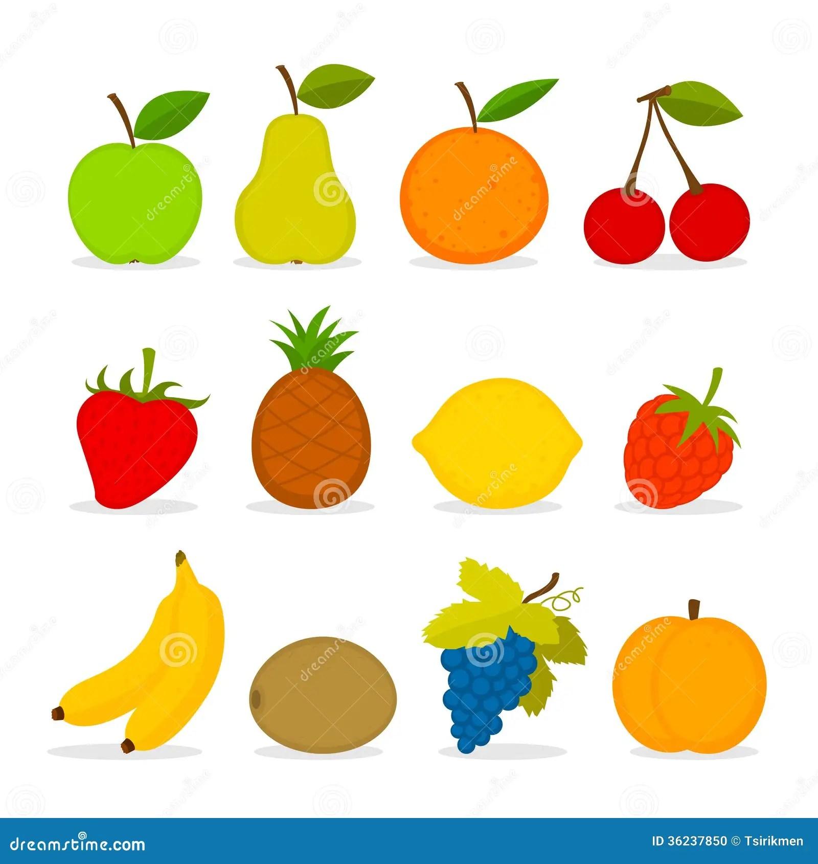 Set Of Vector Fruit Stock Vector Illustration Of