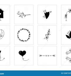 romantic and wedding clipart feminine logo elements  [ 1300 x 1019 Pixel ]