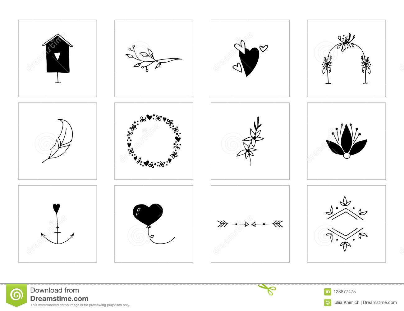 hight resolution of romantic and wedding clipart feminine logo elements