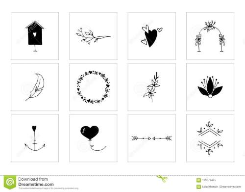 small resolution of romantic and wedding clipart feminine logo elements