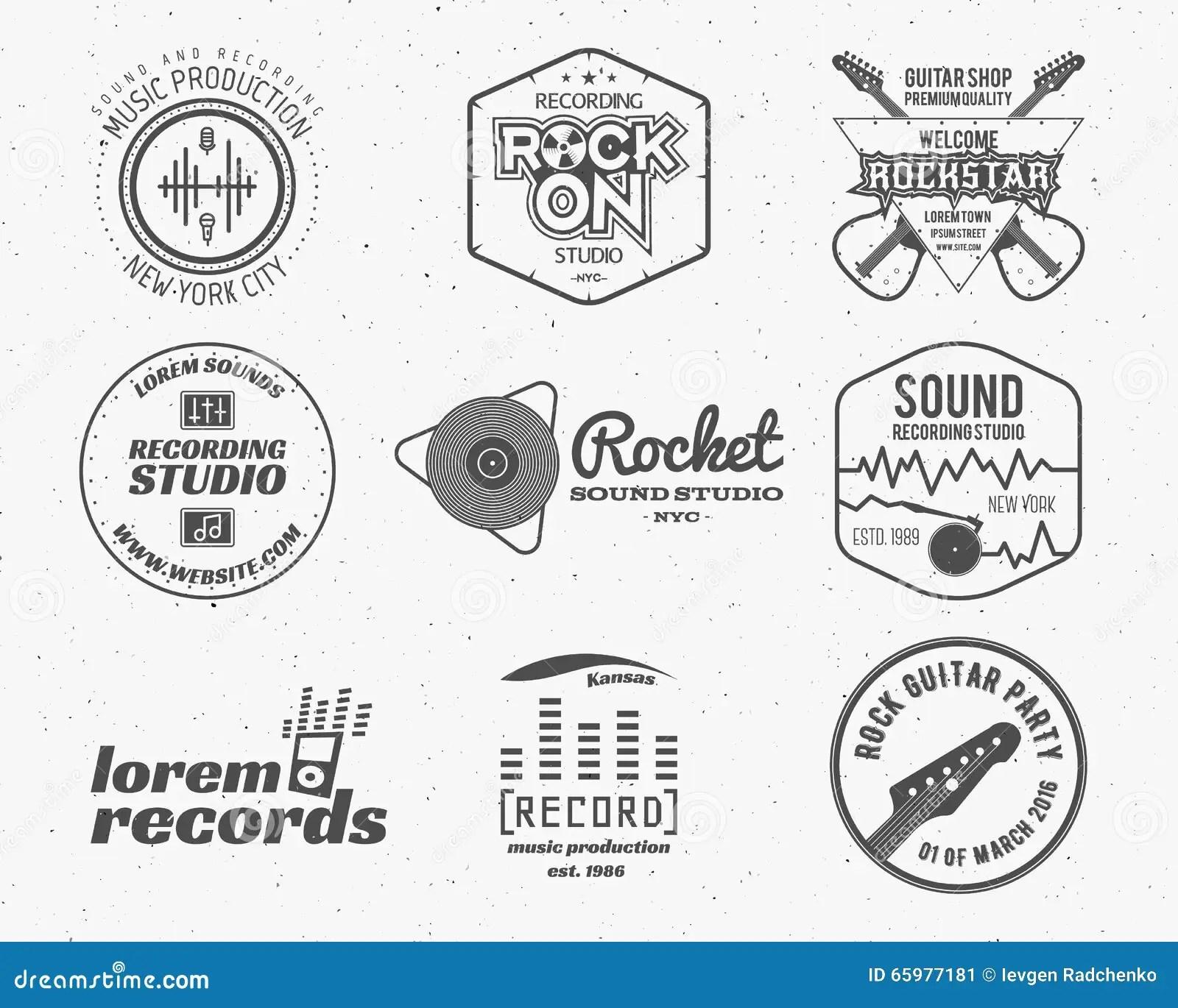 Set Of Vector Music Production Logo,label, Sticker, Emblem