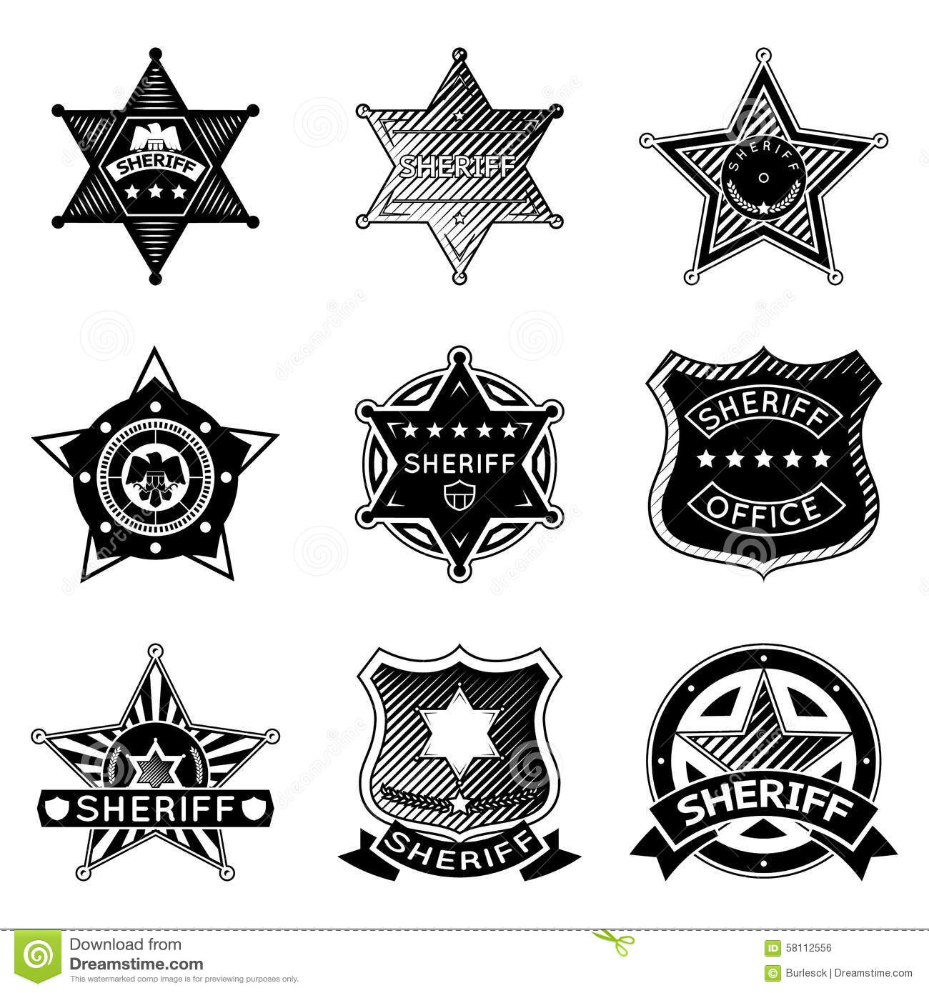 Sheriff Stars Badges Western Star Texas And Rangers