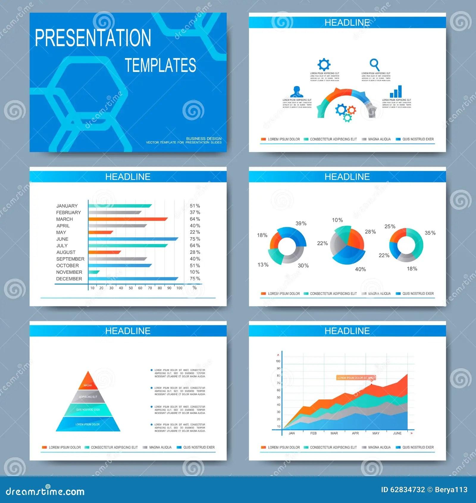 Set Of Vector Templates For Presentation Slides Modern