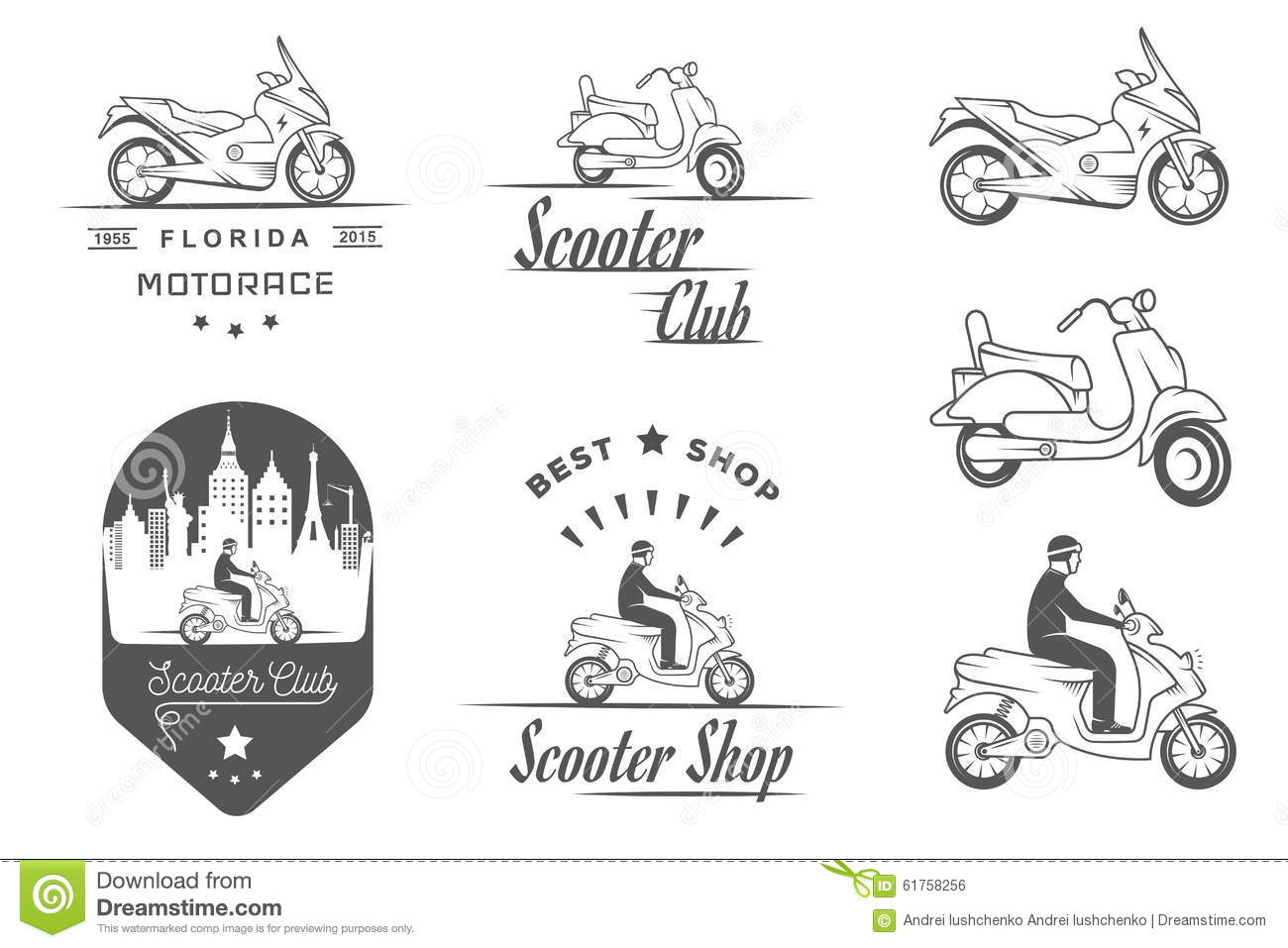 Part Of Vintage Scooter Royalty Free Stock Photo