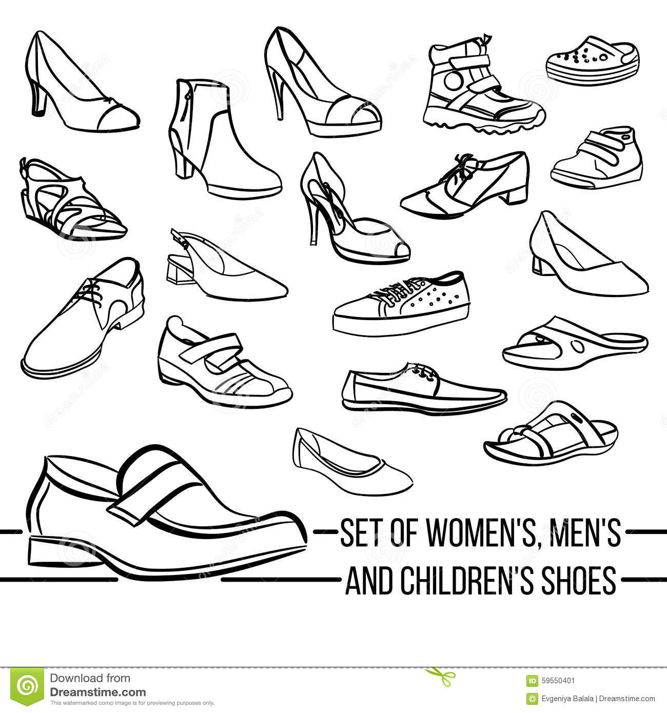 Women Boots Icon, Outline Style Cartoon Vector