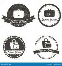 Set Of Vintage Fashionably Emblems, Bags Logo Stock Vector