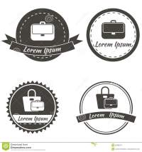 Set Of Vintage Fashionably Emblems, Bags Logo Stock Vector ...