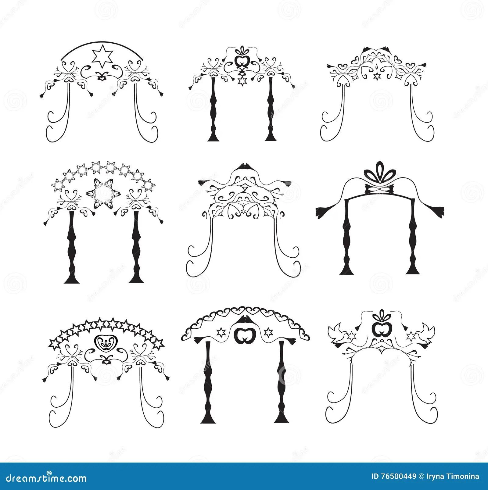 Jewish Wedding Ceremony Canopy (chuppah Or Huppah) Royalty