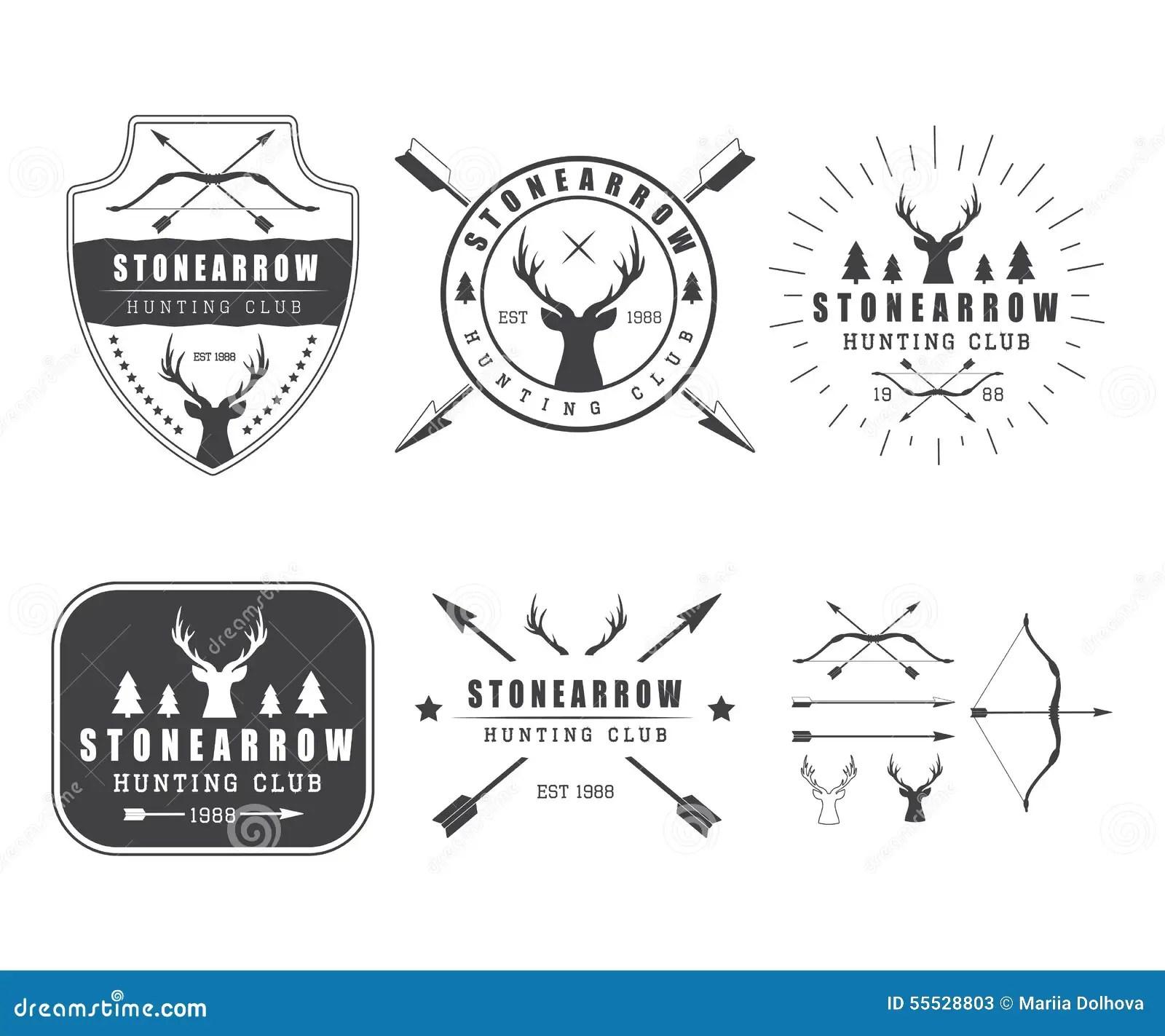 Set Of Vintage Hunting Labels Logo Badge And Design