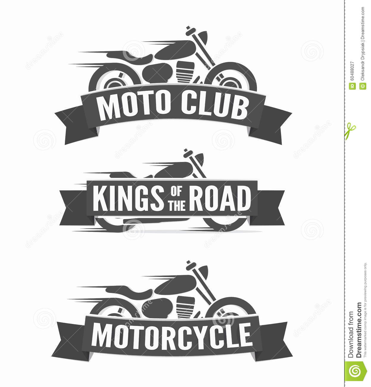 Set Of Vintage Motorcycle Labels Badges And Logos Stock