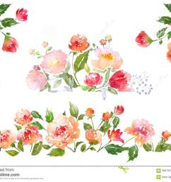 floral clip art with watercolor peonies illustration for greeting cards invitations and other printing projects  [ 1300 x 1009 Pixel ]