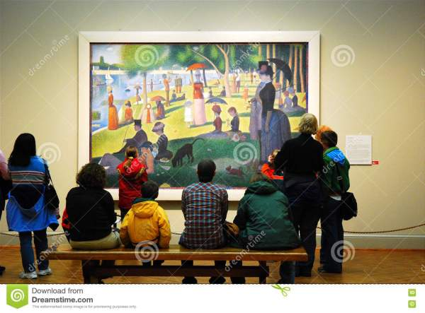 Seurat Chicago Art Institute Editorial - Of Afternoon Illinois 78046726