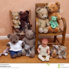 Children S Stuffed Animal Chairs Transport Chair Walmart Several 39s Toys On Old Stock Photos Image