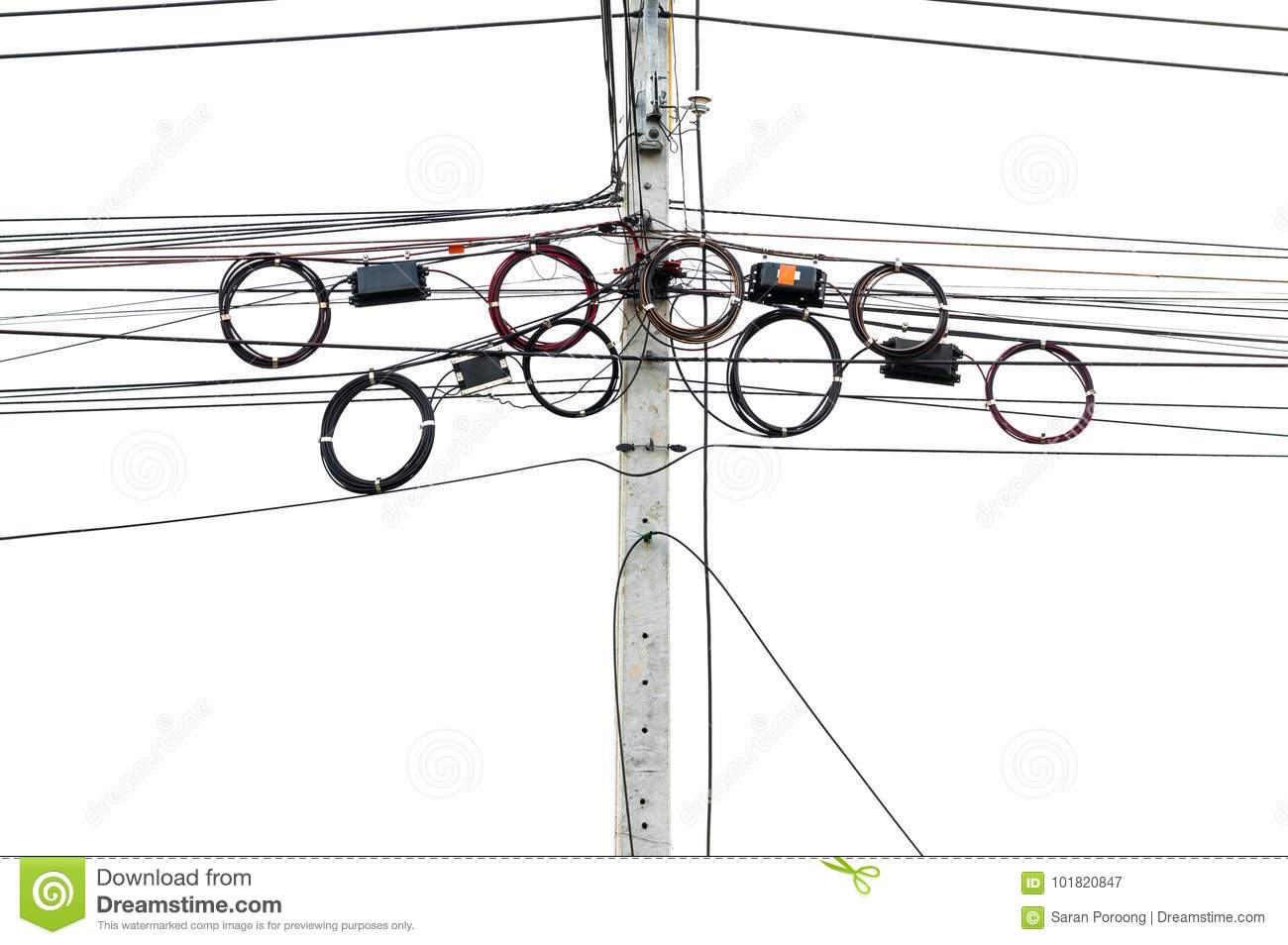 Twisted Copper Wires Royalty Free Stock Photo