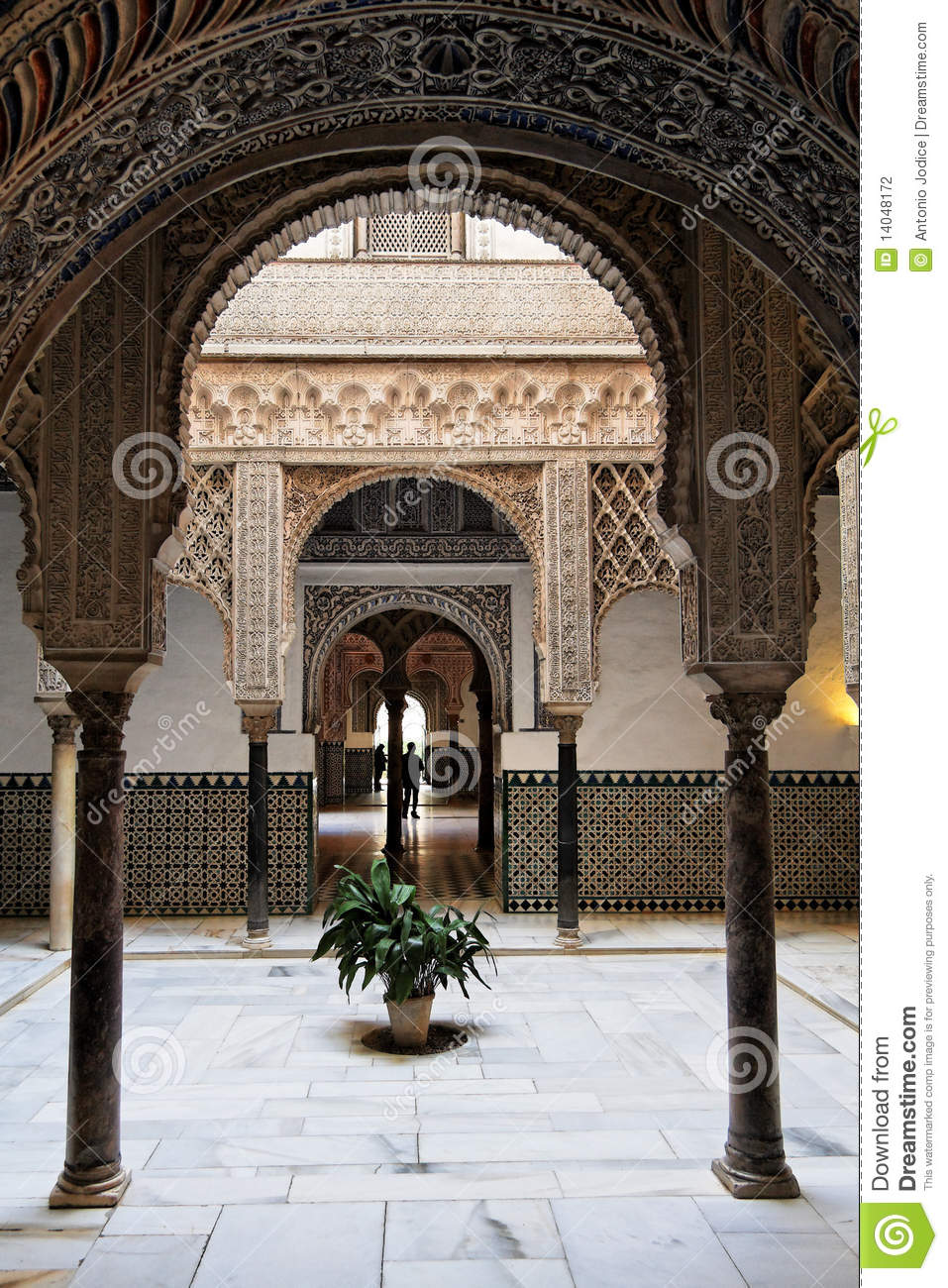 Seville Arabic Arch As Seen In Real Alcazar Stock Photo