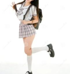 asian girl student in school uniform [ 1012 x 1300 Pixel ]