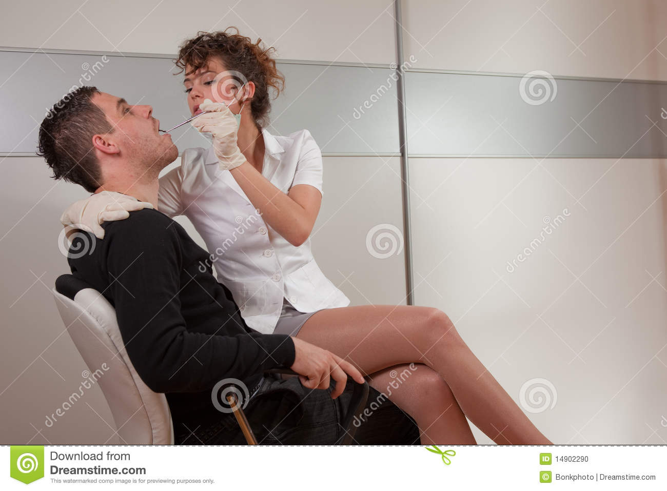 hight resolution of dentist stock photo