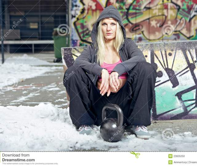 Fit Woman In Ghetto