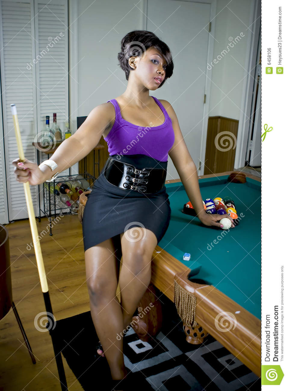 Sexy Game Of Pool Royalty Free Stock Image Image 6458106