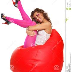 Xl Bean Bag Chair Ergonomic Delhi Girl Sitting In Stock Photo. Image Of Allure - 11210208