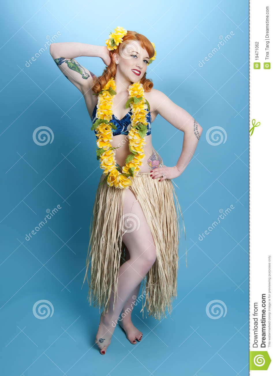 Hula Pinup Girl Stock Photo Image Of Hula Gorgeous