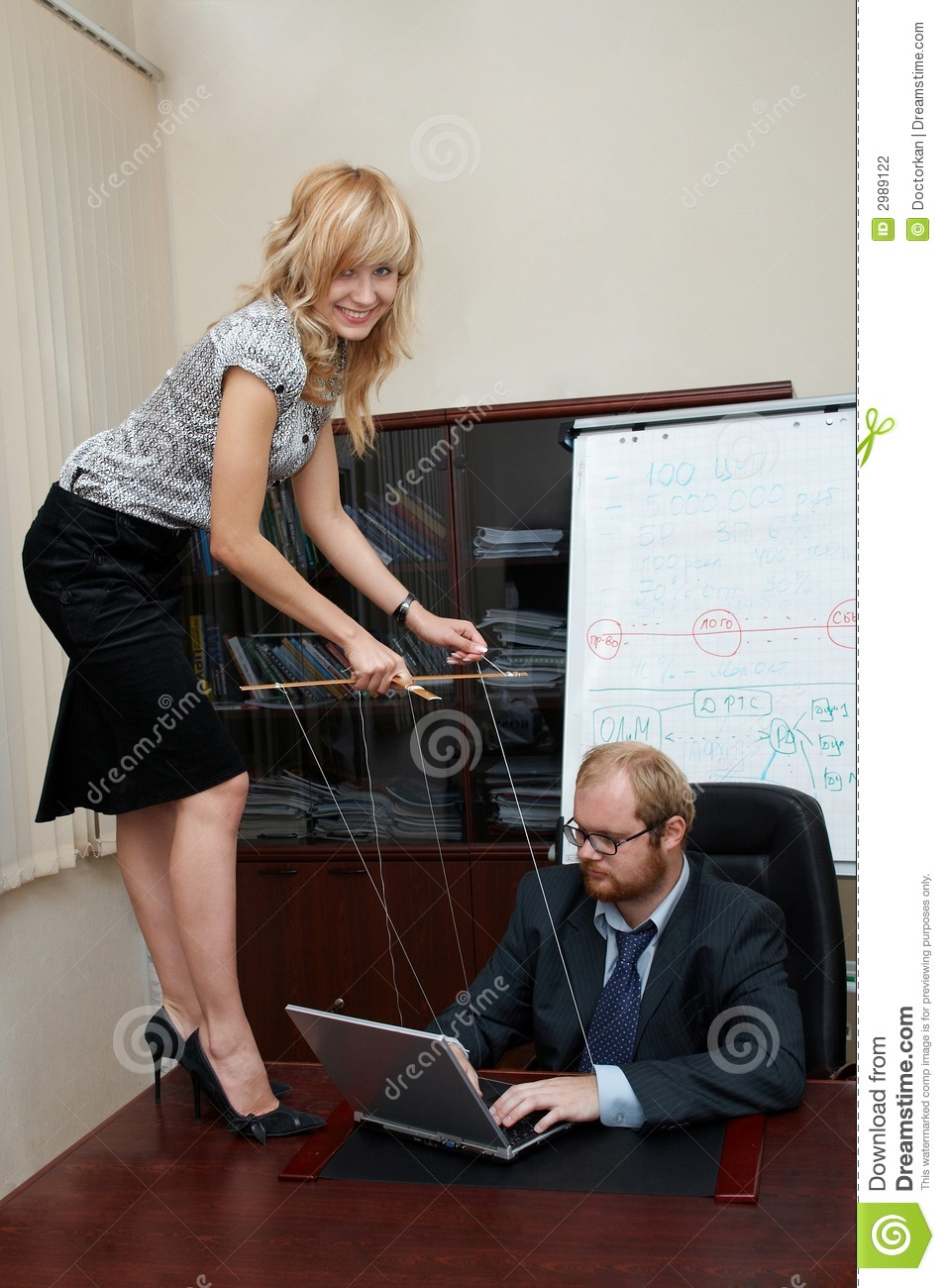 Lady manipulates a Boss stock photo Image of manipulate