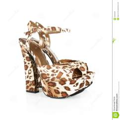 Leopard High Heel Shoe Chair Beach Wedding Decoration Ideas Sexy Print Shoes Royalty Free Stock Images Image