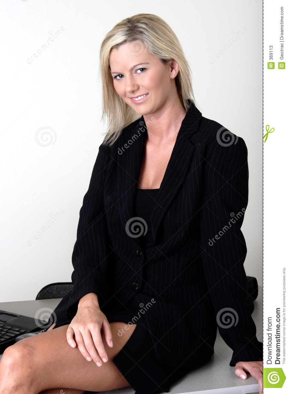 Office Lady Sitting On Her Desk Stock Photos  Image 369113