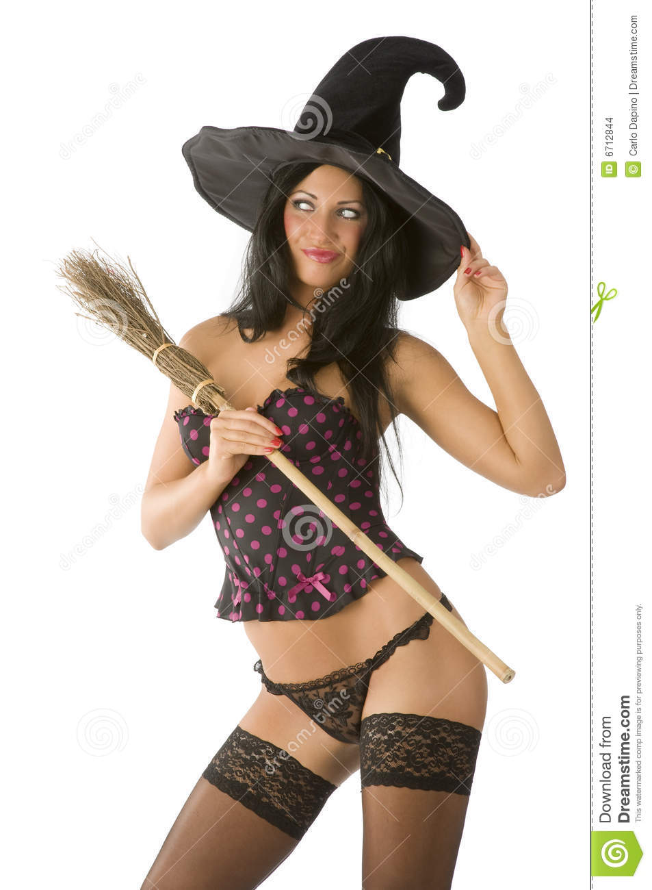Sexy Witch Making Face Stock Images Image 6712844