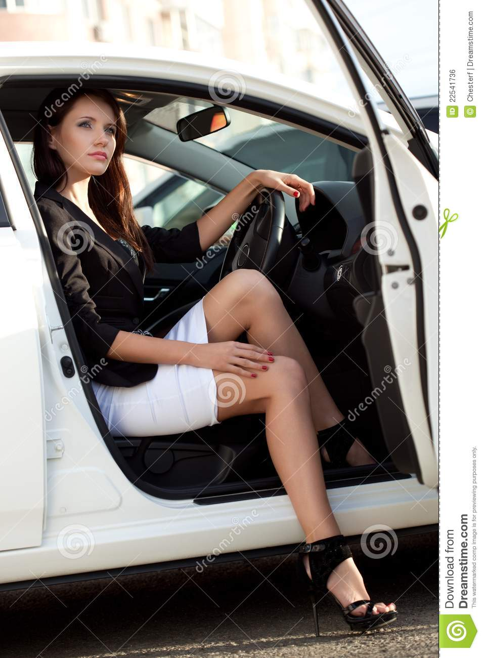 Woman in car stock photo Image of person happiness