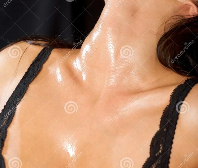 A Closeup Of A Woman Brilliant Neck