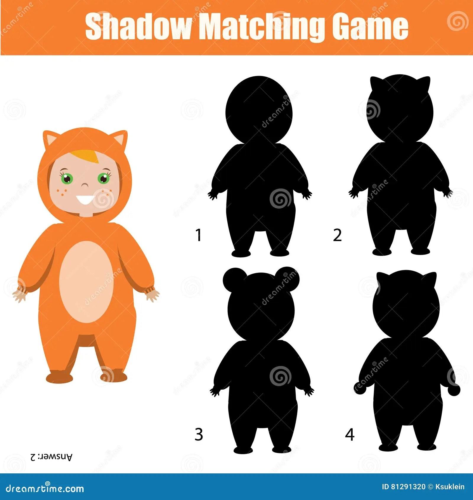 Kindergarten Shadow Worksheet