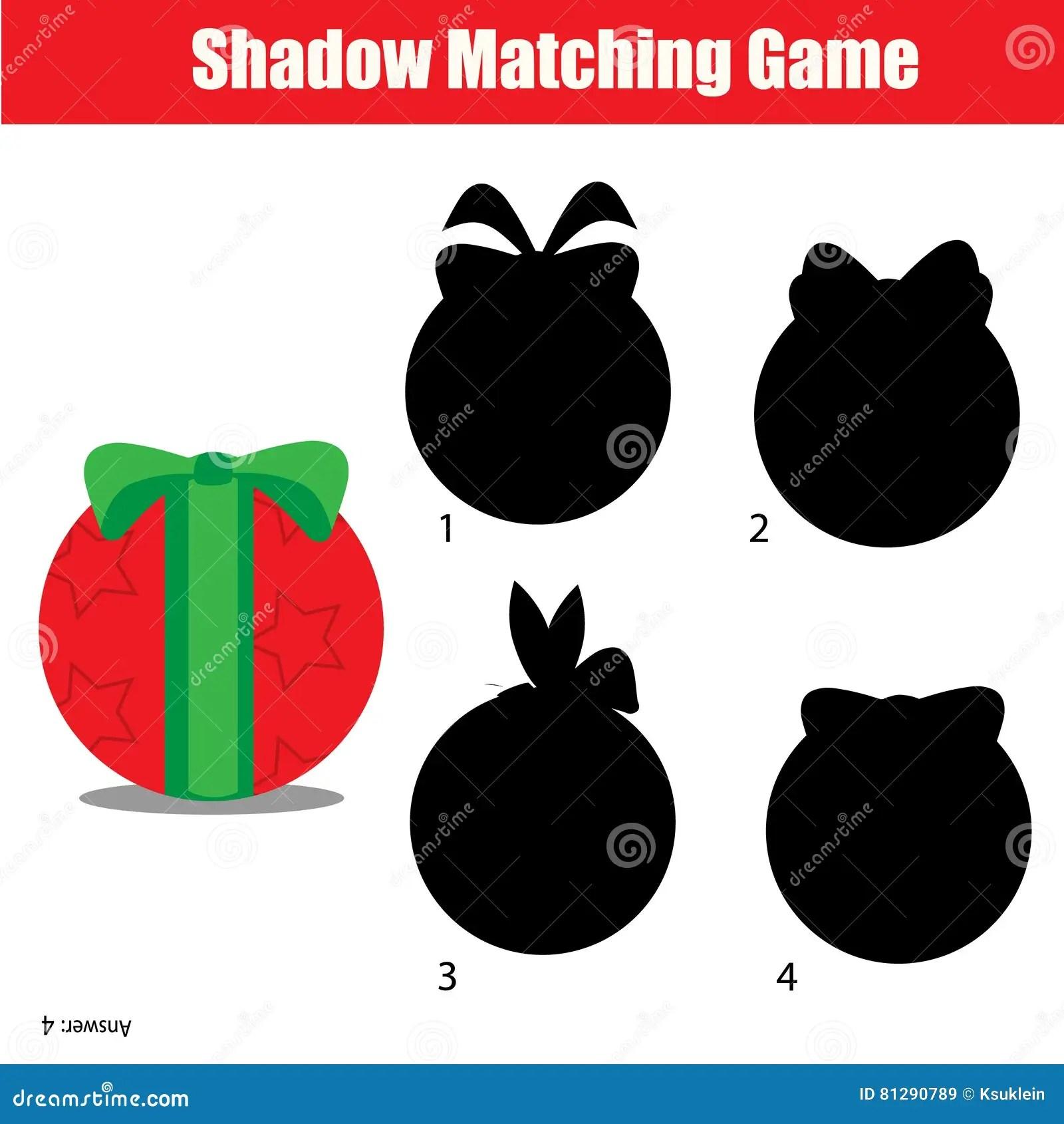 Shadow Matching Game Christmas Winter Holidays Theme