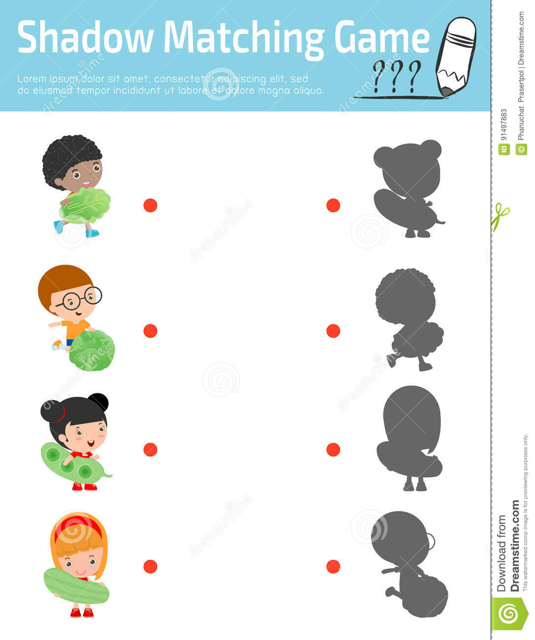 Shadow Matching Game For Kids Visual Game For Kid